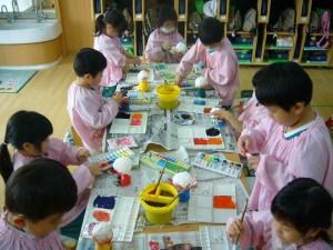 年中 紙粘土制作3